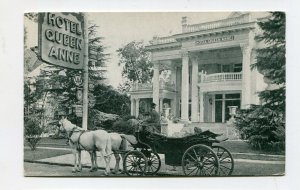Vintage Postcard HOTEL QUEEN ANNE New Bern NC horse carriage