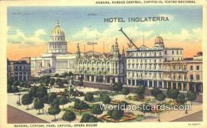 Cuba, Republica De Cuba Habana Parque Central, Capitolio, Hotel Inglaterra