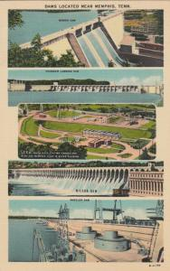 MEMPHIS , Tennessee, 30-40s ; Five Dams located near Memphis