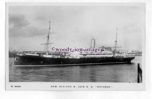 pf6686 - New Zealand Lines Liner - Rotorua , built 1910 sunk 1917 - postcard