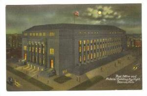Post Office & Federal Building, By Night, Denver, Colorado, 1900-1910s