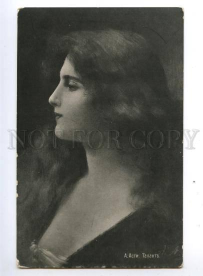 149948 BELLE Woman LONG HAIR by Angelo ASTI vintage Odessa PC