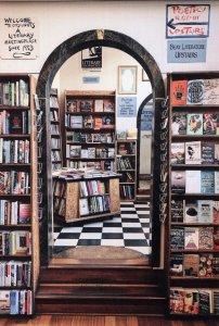 City Lights Bookstore Book Shop San Fransisco California Postcard