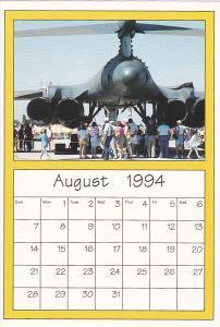 August 1994 Limited Editon Calendar Cardm AirShow '94 B-1B Bomber