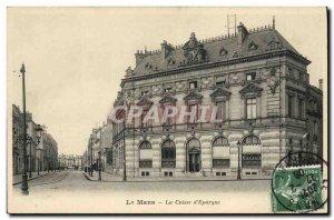 Old Postcard Bank Le Mans Caisse d & # 39Epargne