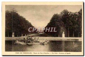 Versailles - Parc de Versailles - The Basin of Char & # 39Apolon - Old Postcard
