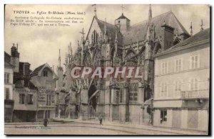 Troyes Postcard Ancient Church St Martin collegiate old urban Srt