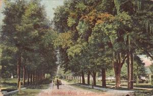 Florida De Land New York Avenue Looking West 1911