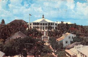 Nassau, Bahamas Virgin Islands Front view of Government House Nassau, Bahamas...