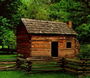 Abraham Lincoln Boyhood Home Hodgenville Kentucky KY UNP Vtg Chrome Postcard