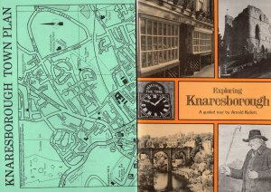 Exploring Knaresborough 1980s Rambling Walking Tourist Guide Book & Map