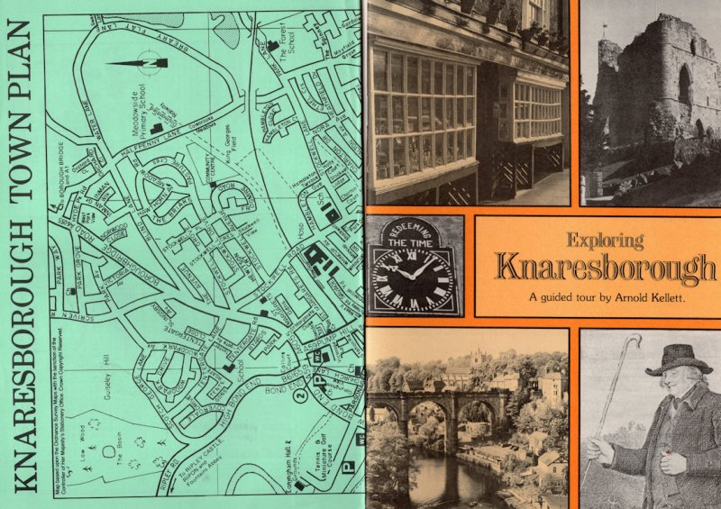 Exploring Knaresborough 1980s Rambling Walking Tourist Guide Book & Map