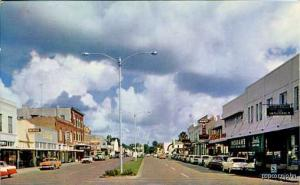 Kissimmee FL Imperial Street Vue Old Cars Postcard