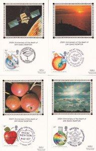 Benham Death Of Sir Isaac Newton 4x Postcard Silk FDC s