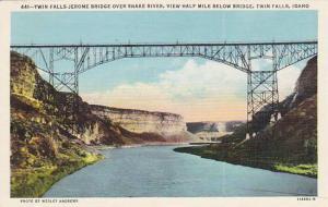 Twin Falls, Jerome Bridge over Snake River, Twin Falls, Idaho, 30-40s