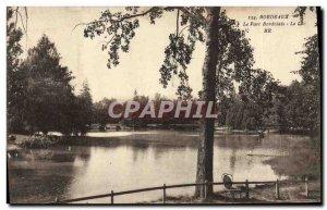 Old Postcard Bordeaux Bordeaux Park Lake