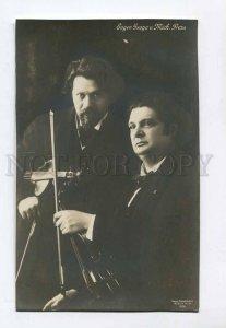 286564 Mikhail PRESS & YSAYE Famous Violinist Vintage PHOTO PC