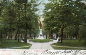 IN - Indianapolis. University Park and Colfax Monument