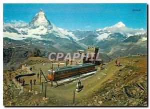 Modern Postcard Zermatt Gornergrat mit Matterhorn