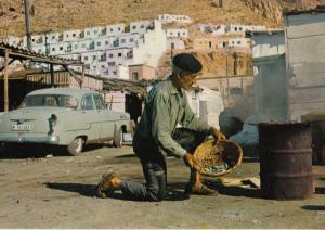 Almeria Cooking A Moraga Spanish Fish Cookery In Basket 1980s Postcard