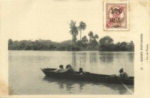 PC CPA PORTUGUESE GUINEA, LE RIO FARIM, VINTAGE POSTCARD (b13349)