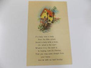 Mid 1920's Church Reminder Postcard