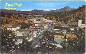 Elk Horn Avenue in Estes Park Colorado CO, 1966 Chrome