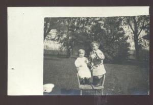 RPPC RUTLAND ILLINOIS CUTE BABY GIRL GERLAN ILL. VINTAGE REAL PHOTO POSTCARD