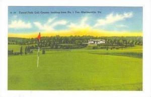 Forest Park Golf Course, #1 Tee, Martinsville, Virginia, 30-40s