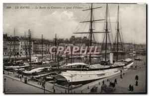 Le Havre - the Basin Commercial and Quay D & # 39Orleans - Old Postcard