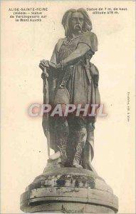 Postcard Old Alise Sainte Reine (Alesia) Statue of Vercingetorix on Mont Auxois