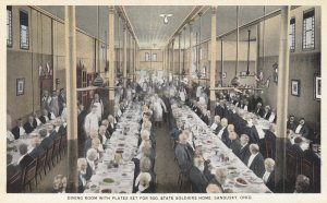SANDUSKY , Ohio , 1910s ; Soldier's Home Dining Room , Plates set for 500