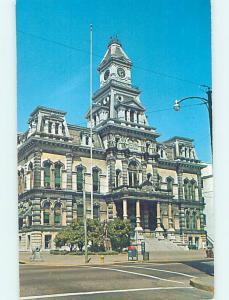 Pre-1980 COURTHOUSE SCENE Zanesville Ohio OH AE9866