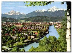 Modern Postcard Innsbruck Tirol geg Serles und Nockspitze