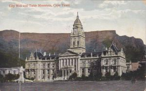 City Hall & Table Mountain, Cape Town, South Africa, 1910-1920s