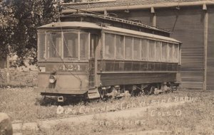 RP: COLUMBUS , Ohio , PU-1910; Dog Catcher Trolly Car, During Car Strike
