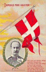 DOMINUS MIHI ADJUTOR FREDERIK VIII KING OF DENMARK-1900s POSTCARD