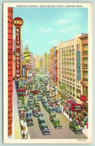 Boston Massachusetts~Washington Street~Keith-Boston~Bowling-Billiards~1940s