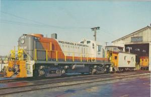 3275 Alco RS-3 161 and Caboose No.3  Worcester MA 1973