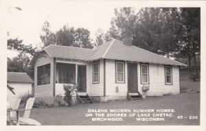 Wisconsin Birchwood Dalens Moden Cottages Real Photo sk4222
