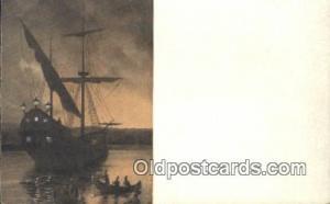 Hudson River Day Line, New York,  NY USA Sail Boat Postcard Post Card  Hudson...