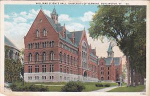 Williams Science Hall, University of Vermont, Burlington, Vermont, 10-20s
