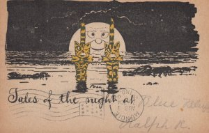 2 cats & Man-in-the-moon Tales of the night , 1905