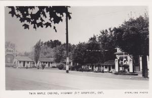 RP:  ARNPRIOR , Ontario , Canada , 30-40s; ESSO Gas Station & Twin Maple Cabins