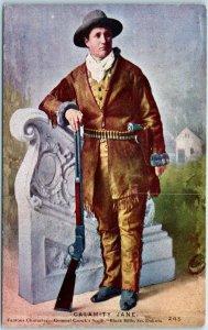1910s CALAMITY JANE Postcard Cowgirl Old West Black Hills South Dakota Unused