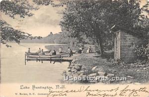 Dock Scene Lake Huntington NY 1906