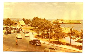 MA - Plymouth. Pilgrim House, Harbor from Cole's Hill