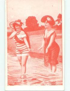 Pre-Linen Risque SEXY GIRLS AT THE BEACH AB6031