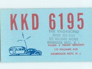 Pre-1980 RADIO CARD - Hasbrouck Heights - Near Passaic & Hackensack NJ AH2937