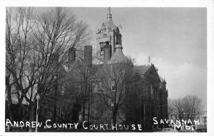 Savannah Georgia Andrew Court House Real Photo Antique Postcard K40048